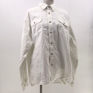 Wrangler mens white button up shirt sz 2X